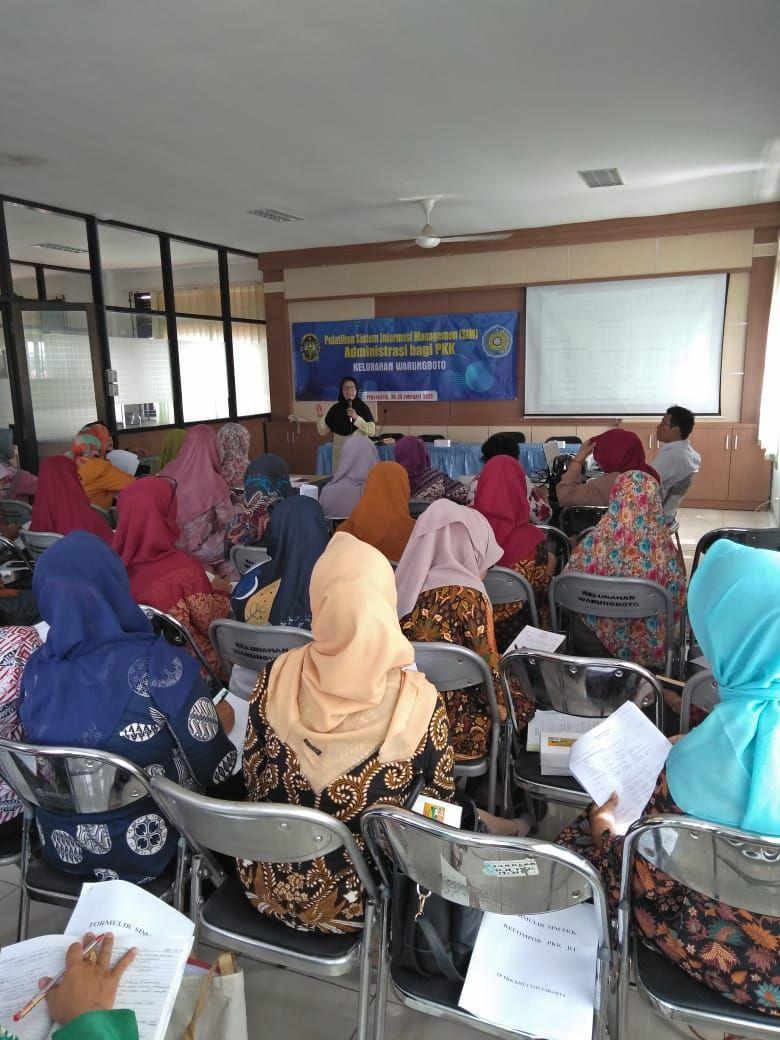 Pelatihan SIM Administrasi Bagi PKK Kelurahan Warungboto